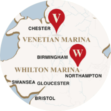 Whilton & Venetian on map