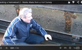 Blacking a Narrowboat 2 - Marks Made from a Hull Survey